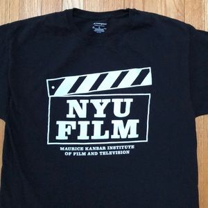 Men's NYU FILM Black T-Shirt Large NWOT